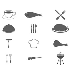 Icons set food vector