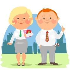 Cartoon office people - coworkers vector