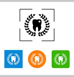 Tooth and wreath icon vector