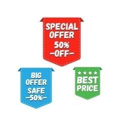 Special offer big offer and best price marks vector