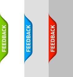 Feedback element vector image