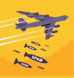 Bomber and spam bombing vector