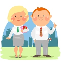 Cartoon office people - coworkers vector