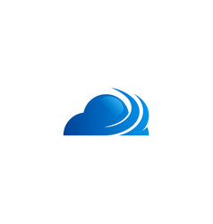 cloud abstract media technology logo vector image
