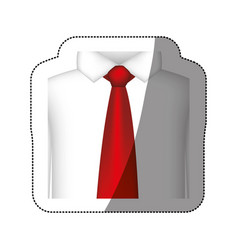 color tie with shirt icon vector image vector image