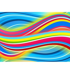 Colored waves background vector image vector image