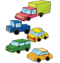 Colorful toy cars vector