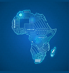 continent of Africa vector image