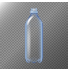 Empty Transparent Bottle Realistic Blank Mock Up vector image vector image