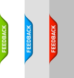 Feedback element vector image