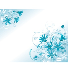 flowers summer card vector image