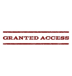 Granted Access Watermark Stamp vector image vector image