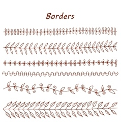 Hand drawn borders Design elements vector image