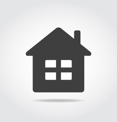 House black icon vector