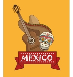 Icons music mexican design vector