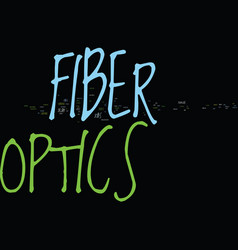 Kw fiber optics text background word cloud concept vector