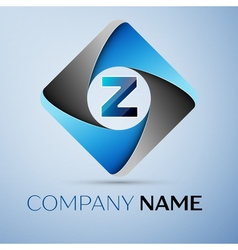 Letter z logo symbol in the colorful rhombus vector