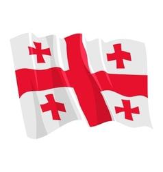 Political waving flag of georgia vector