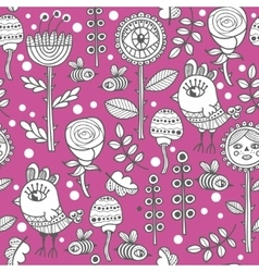 Seamless pattern for adult and children coloring vector image