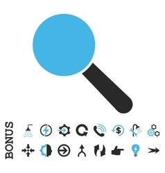 Search Tool Flat Icon With Bonus vector image