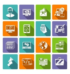 Seo Internet Marketing Flat Icon vector image vector image