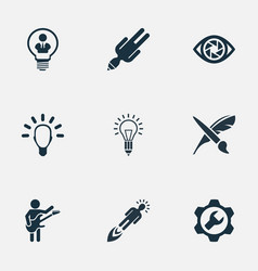 Set of simple creative vector