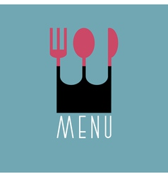 Stylish restaurant menu design in minimal style vector image vector image