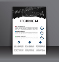 technical drawing cover report-09 vector image