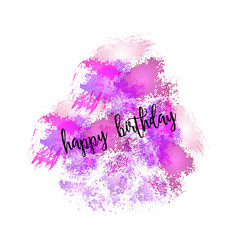 Watercolor greeting card - happy birthday vector