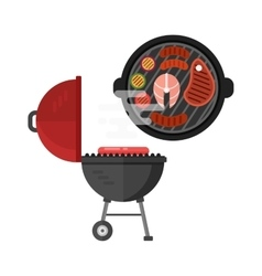 Grill meat vector