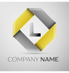 Letter L logo symbol in the colorful rhombus vector image