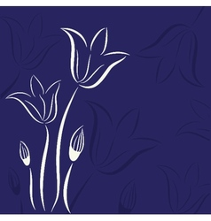 Decorative background with Tulips flowers vector image