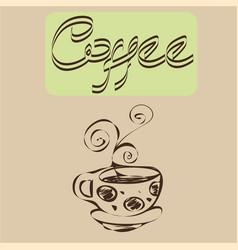 A hot coffee cup designs vector