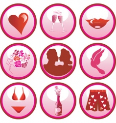 love icon buttons vector image