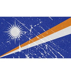Flag of marshall islands with old texture vector