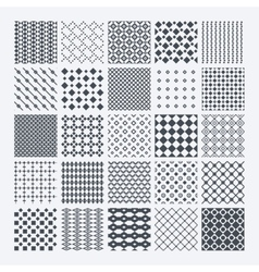 Geometric monochrome pattern set vector