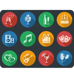 Party buttons vector image