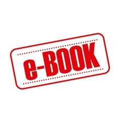 E-book seal vector