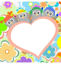 Penguin in love for valentines greetings vector