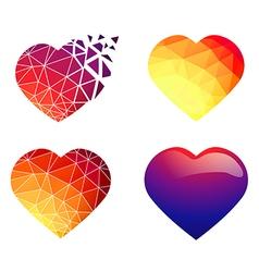 Heart design collection vector