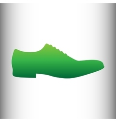 Men shoes icon vector