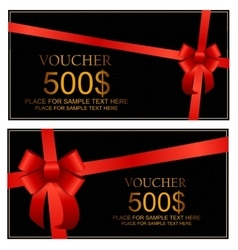 Gift voucher template for your business vector