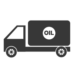 Black cargo truck graphic vector