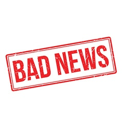 Bad News rubber stamp vector image