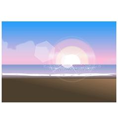 Beach sunset background vector image