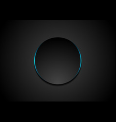 Black circle abstract tech background vector