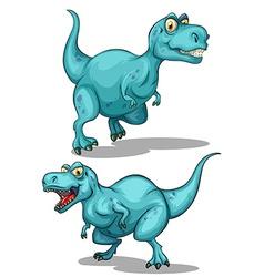 Blue dinosaur with sharp teeth vector image