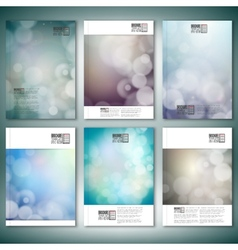 Blurry backgrounds with bokeh effect brochure vector