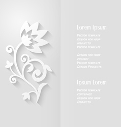 Brochure design with abstract paper flower vector image vector image