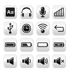 cElectronic device Computer software buttons set vector image